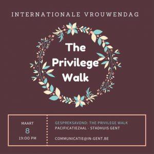 Privilege walk - 8march - Dia de la mujer - Vrouwendag - Women's day